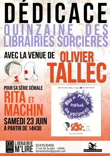 tallec, ddicace, rita et machin, gallimard jeunesse, ddicaces, m'lire