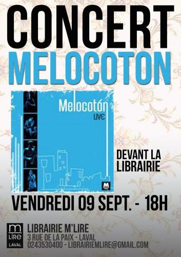 melocoton, concert, laval, mlire