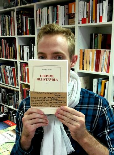 l'homme qui s'envola,antoine bello,gallimard,littérature française,rentrée littéraire,serge vessot,m'lire,librairie,laval
