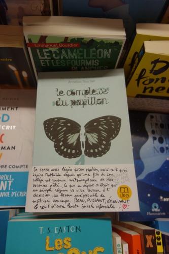 Le complexe du papillon, Anne-Lise Heurtier, Casterman, littérature ado, Solène Duroch, M'Lire, Laval