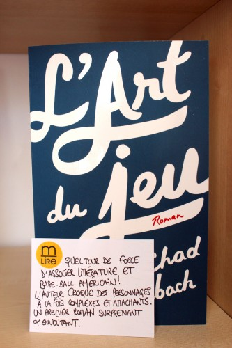 l'art du jeu,chad harbach,jc lattès