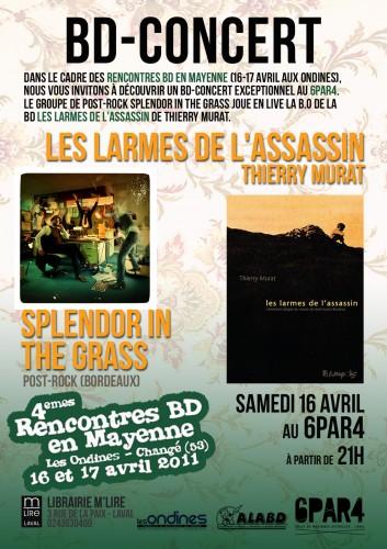 larmes assassin thierry murat bd concert