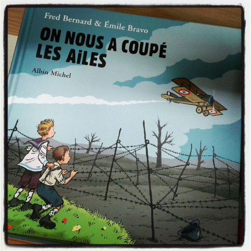 on nous a coupé les ailes, emile bravo, fred bernard, m'lire, librairie, album jeunesse, première guerre mondiale, simon roguet