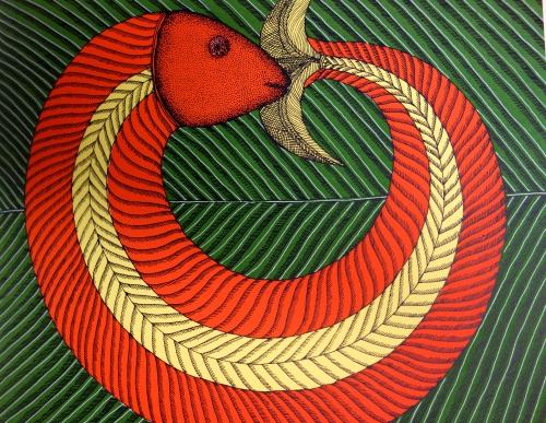 Création, Bhjju Shyam, Gita Wolf, Actes sud junior, Tara Books, inde, livre jeunesse, album, m'lire