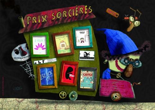 prix sorcières, 2013, librairies sorcières, max, cartes, emile se déguise, la maison en petits cubes, black out